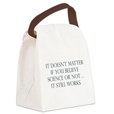 believe science.png Canvas Lunch Bag