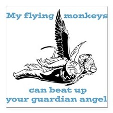 "flyingmonkey.png Square Car Magnet 3"" x 3"""