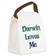Darwin Loves Me Canvas Lunch Bag