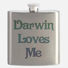 Darwin Loves Me Flask