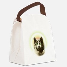 God Cat Canvas Lunch Bag