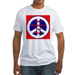 Vote Democrat for Peace First Fitted T-Shirt