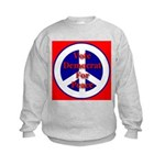 Vote Democrat for Peace First Kids Sweatshirt