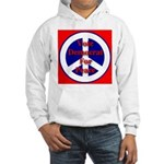 Vote Democrat for Peace First Hooded Sweatshirt