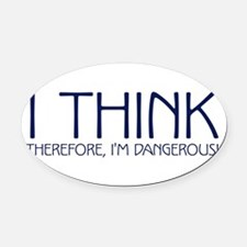 ithink2.png Oval Car Magnet
