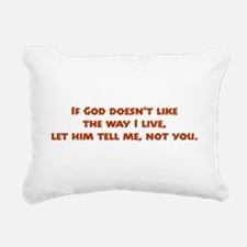 thewayIlive.png Rectangular Canvas Pillow