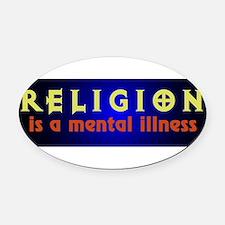 mentalillness.png Oval Car Magnet