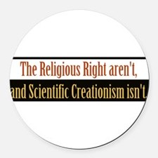 religiousrightarentbs.png Round Car Magnet