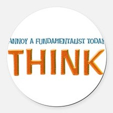think lite.png Round Car Magnet