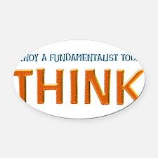 think lite.png Oval Car Magnet