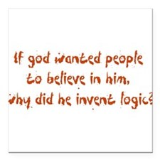 """whyinventlogic.png Square Car Magnet 3"""" x 3"""""""