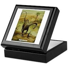 Diplodocus Dinosaur Keepsake Box