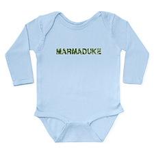 Marmaduke, Vintage Camo, Long Sleeve Infant Bodysu