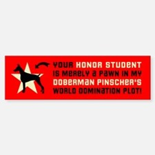 DOBERMAN World Domination Bumper Bumper Bumper Sticker