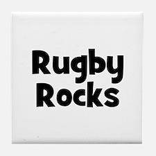 RUGBY Rocks Tile Coaster