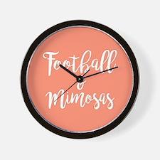 Football and Mimosas Wall Clock