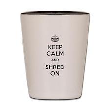 Keep Calm Shred On Shot Glass