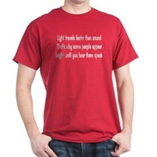 Light Travels Faster Red T-Shirt