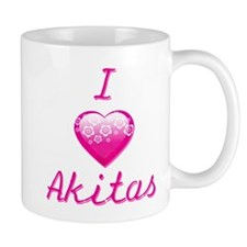 I Love/Heart Akitas Mug