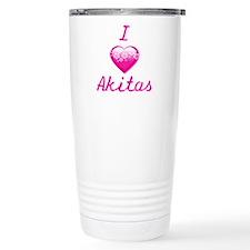 I Love/Heart Akitas Travel Mug