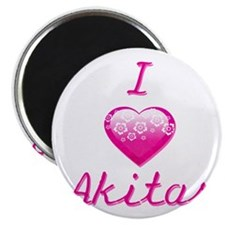 "I Love/Heart Akitas 2.25"" Magnet (10 pack)"