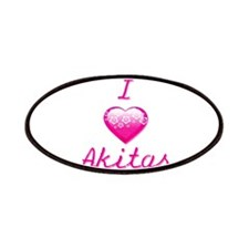 I Love/Heart Akitas Patches