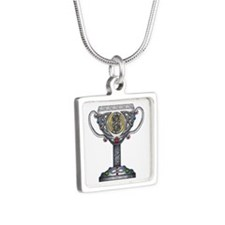 Celtic Wedding Chalice Silver Square Necklace