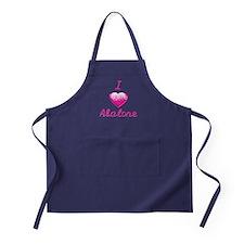 I Love/Heart Abalone Apron (dark)