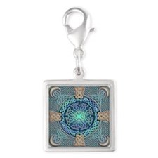 Celtic Eye of the World Silver Square Charm