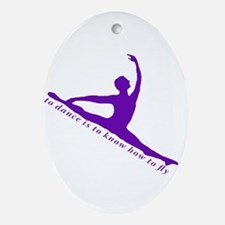 Purple Jete Ornament (Oval)
