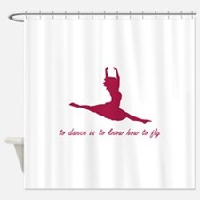 To Dance, To Fly Shower Curtain