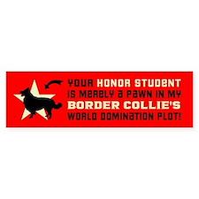 BORDER COLLIE World Domination! Bumper Sticker