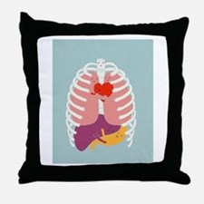 Hugs Keep Us Alive Throw Pillow