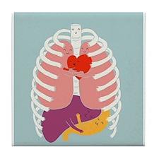 Hugs Keep Us Alive Tile Coaster