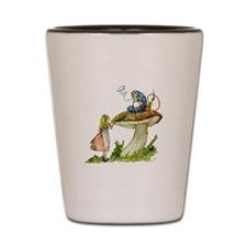 Alice and the Caterpillar Shot Glass