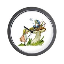 Alice and the Caterpillar Wall Clock