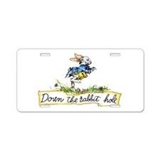 Down the Rabbit Hole Aluminum License Plate