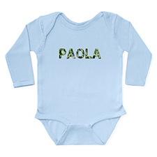 Paola, Vintage Camo, Long Sleeve Infant Bodysuit