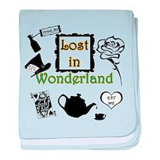 Lost in Wonderland baby blanket
