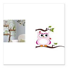 "Love Owl Square Car Magnet 3"" x 3"""