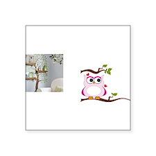 """Love Owl Square Sticker 3"""" x 3"""""""