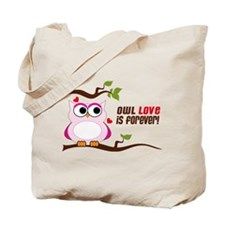 Owl Love Is Forever Tote Bag