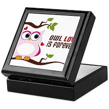 Owl Love Is Forever Keepsake Box