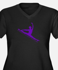 Purple Jete Women's Plus Size V-Neck Dark T-Shirt