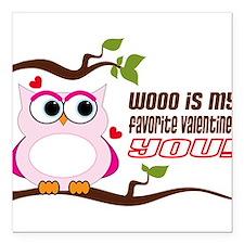 "Favorite Valentine Square Car Magnet 3"" x 3"""