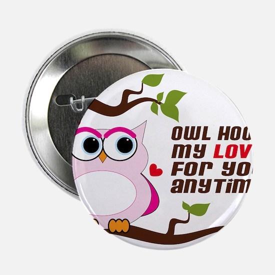 """Owl Hoot 2.25"""" Button"""