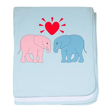 Valentine Elephants baby blanket