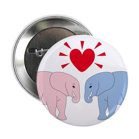 "Valentine Elephants 2.25"" Button"