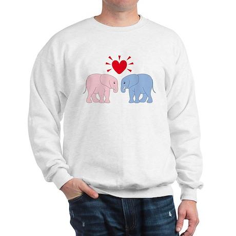 Valentine Elephants Sweatshirt