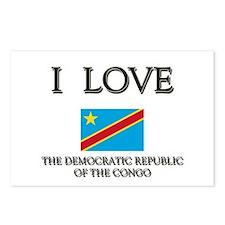 I Love The Democratic Republic Of The Congo Postca